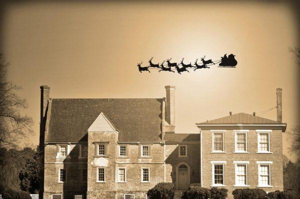 Castle Christmas Santa