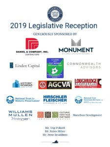 list of sponsors for 2019 legislative reception